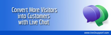 convert visitors into customers - live chat